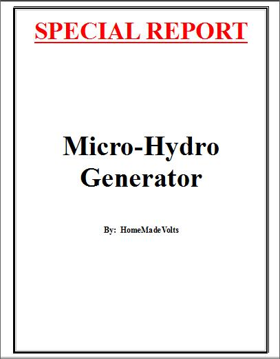 Build a Micro Hydro Generator
