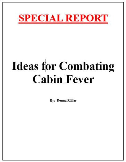 Ideas for Combating Cabin Fever